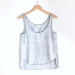 Cloth & Stone chambray denim blue tank top S